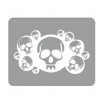 Sticker Laptop Dead Head