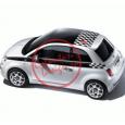 Kit Autocolant Plafon si Dungi Patratele Fiat 500