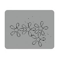 Sticker Laptop Floral 1